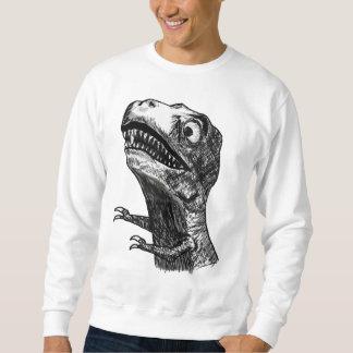 Raiva Meme de T-Rex - camisola Moleton