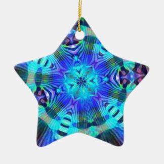 Raiva psicadélico ornamento de cerâmica