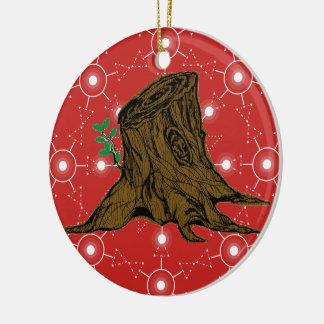 Raiz do Peppermint do ornamento da árvore de Jesse