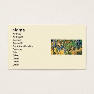 Raizes da árvore de Van Gogh e troncos, belas Cartão De Visitas
