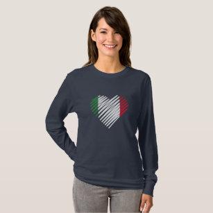 Raizes do italiano da camisa de Italia do coração f863f5b4d68ff