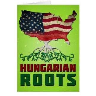 Raizes húngaras americanas cartão comemorativo