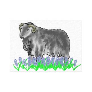 Ram do Aries e canvas de arte dos Bluebells