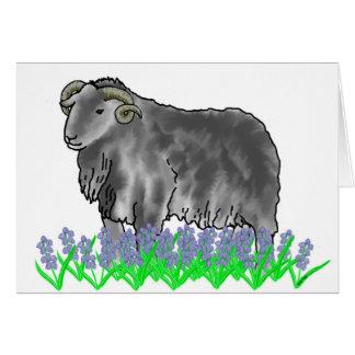 Ram do Aries e cartão da arte dos Bluebells