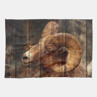 Ram rusticcountry da montanha do woodgrain do vint toalhas de mão