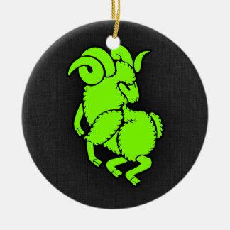 Ram verde Chartreuse, de néon de Aires Enfeites De Natal