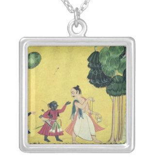 Rama e Lakshmana acompanhados de Visvamitra Colares