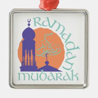 Ramadan Mubarak Ornamento De Metal