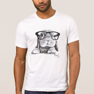 Rambo o coelho do hipster t-shirt