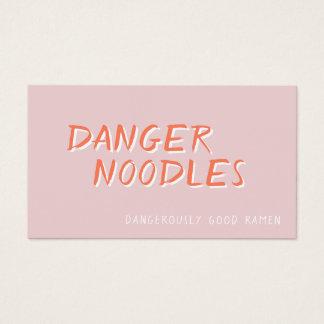 Ramen do perigo: O cartão de negócio da