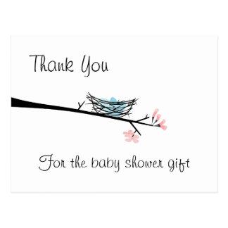Ramo da flor e obrigado do ninho você cartão