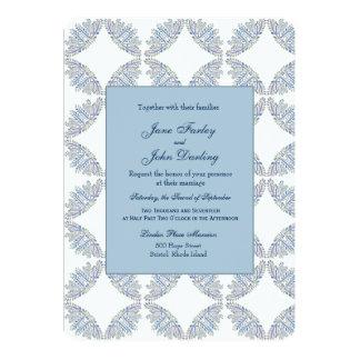 Ramos azuis que Wedding o convite