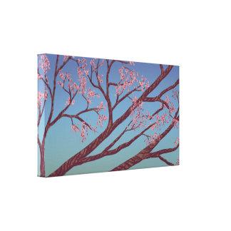 Ramos da flor de cerejeira - canvas de arte 24x14  impressão de canvas esticadas