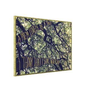 Ramos de um carvalho grande um poema bonito como impressão em tela canvas