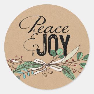 Ramos e de paz e de alegria das bagas etiqueta