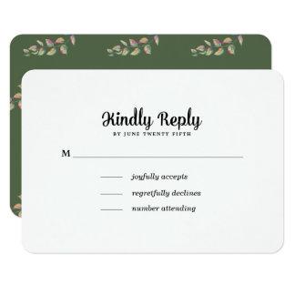 Ramos verdes da aguarela que Wedding cartões de
