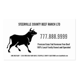 Rancho corajoso dos gados bovinos da modificação cartão de visita