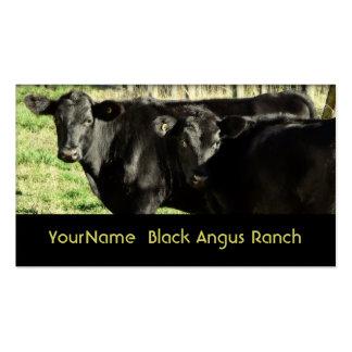Rancho de gado preto de Angus Cartão De Visita