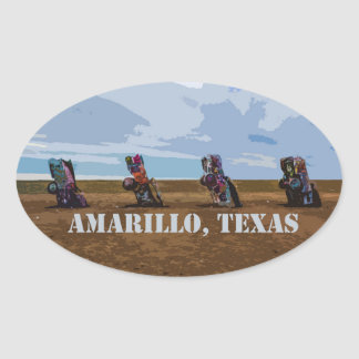 Rancho do cadillac - etiqueta de Amarillo, Texas