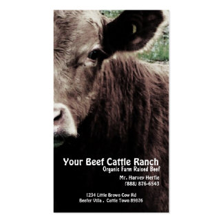 Rancho principal da carne da vaca cartão de visita