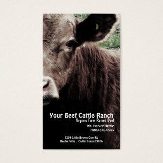 Rancho principal da carne da vaca cartão de visitas
