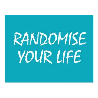 Randomise seu cartão da vida