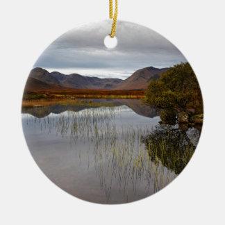 Rannoch amarra, Scotland Ornamento De Cerâmica Redondo
