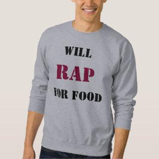 Rap para a camisa da comida t moletom