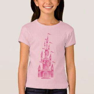 Rapariga cor-de-rosa da camisa do castelo do conto
