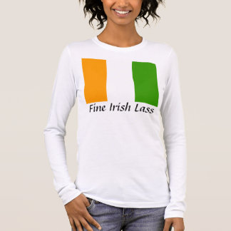 Rapariga irlandesa fina camiseta manga longa