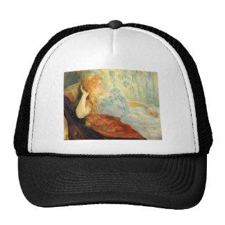 Rapariga que descansa por Berthe Morisot Bonés