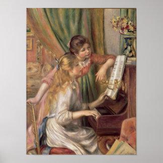 Raparigas no piano, 1892 poster