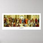 """Raphael """"a escola detalhe de Atenas"""" cerca de 1511 Poster"""