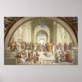 Raphael - Escola de Atenas Pôster