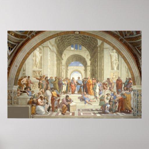 Raphael - Escola de Atenas Pôsteres