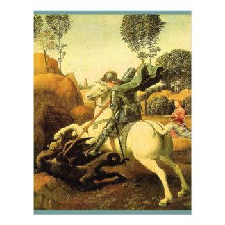 """Raphael """"St George e o dragão"""" (cerca de 1505) Panfletos Coloridos"""
