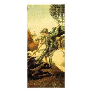 """Raphael """"St George e o dragão"""" (cerca de 1505) 10.16 X 22.86cm Panfleto"""