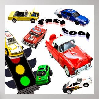 Rápido, legal, carros pôsteres