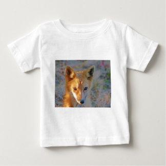 raposa camiseta para bebê