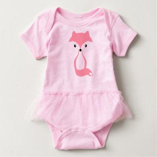 Raposa cor-de-rosa body para bebê