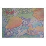raposa e coelho cartão de visita grande