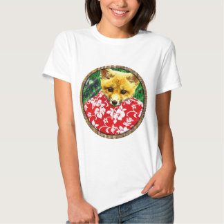 raposa havaiana redonda t-shirt