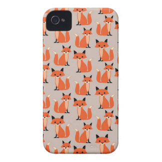 Raposas lunáticas retros bonitos do hipster da capinhas iPhone 4