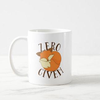 Raposas zero dadas caneca de café
