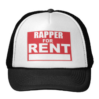 Rapper para o aluguel boné