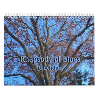 Rapsódia dos azuis - calendário