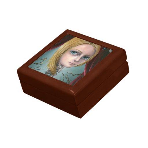 Rapunzel a caixa da menina do tatuagem caixa de persentes