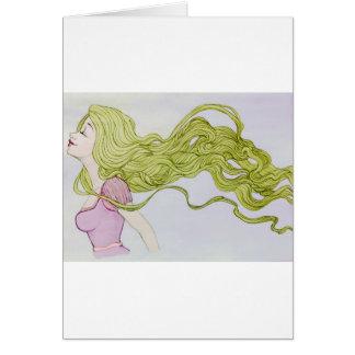 Rapunzel Cartão Comemorativo