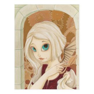 Rapunzel - cartão do conto de fadas do punk do