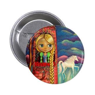 Rapunzel e o botão do unicórnio botons